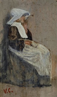 suora seduta by vincenzo cabianca
