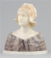 jeune femme en buste by george van vaerenbergh