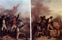 battle of new orleans (pair) by victor nehlig