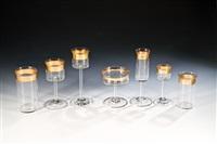 sieben seltene trinkgläser des gläsersatzes