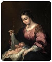 virgen con niño by josé gutiérrez de la vega