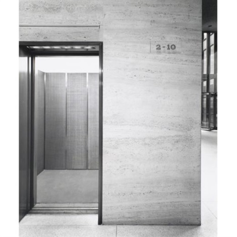 seagram building interior (4 works) by ezra stoller