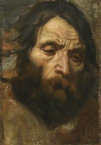 head study of a bearded man by flemish school-antwerp (17)