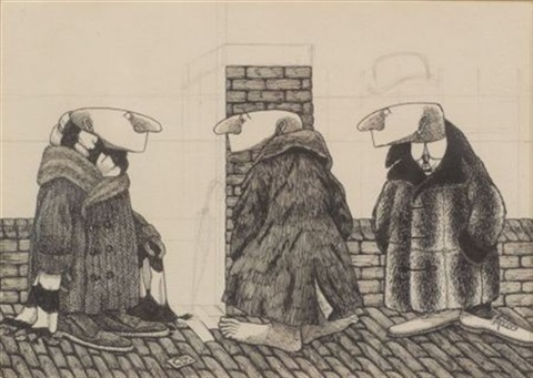 three figures by edward gorey