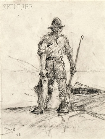fisherman returning with his catch by frank weston benson