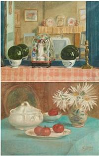 composition aux tomates et composition à la garniture de cheminée (2 works) by sonia abeloos