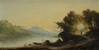 bord d'un lac by r. t. stuart