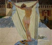 susanna im bade (+ gemäldeskizze, verso) by hans lietzmann