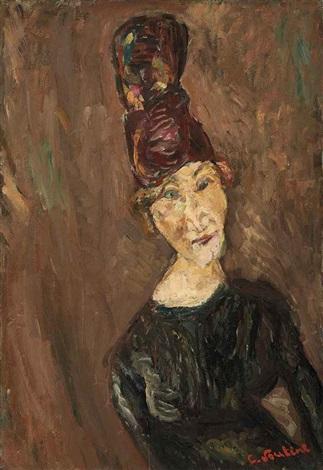 la femme au grand chapeau by chaïm soutine