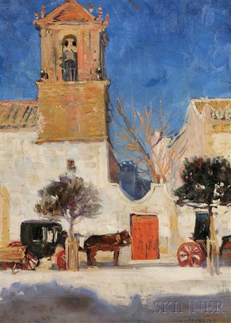 old spanish church grenada spain by jane peterson