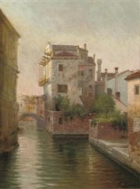 rio di sant'agostin, venice by gustav zaak