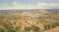 a country house, in an extensive landscape, thought to be north yorkshire by thomas j. banks