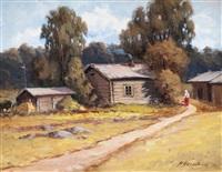 village path by arthur heickell