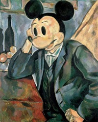 mickey cézanne by alexander kosolapov