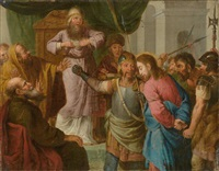 christus vor kaiphas by konrad huber von weissenhorn