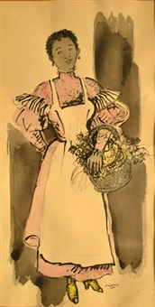 negra con cesta by héctor basaldúa