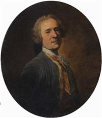 ritratto di gentiluomo in abito blu by giuseppe baldrighi