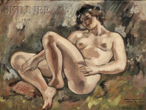 portrait of a reclining female nude by william horace littlefield