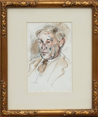 untitled 1 (portrait of a man) by raphael soyer