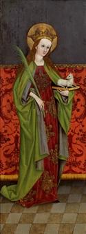 altartafel mit der darstellung der heiligen agnes by austrian school (15)