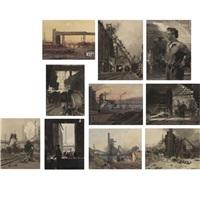 industrial images (11 works) by vladimir alexandrovich vetrogonski