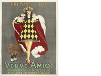 veuve amiot - cremant du roi by leonetto cappiello