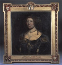 portrait of lady margaret livingston with neckalce and headdress by john scougall