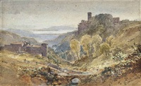 italian landscape by william leighton leitch