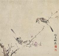 花鸟 镜片 设色纸本 by liu rushi