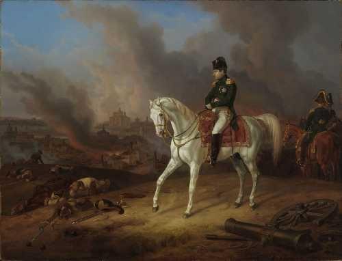 napoleon vor dem brennenden smolensk by albrecht adam