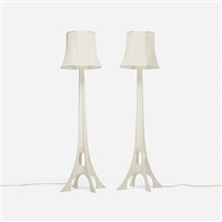 lamps (pair) by paolo portoghese