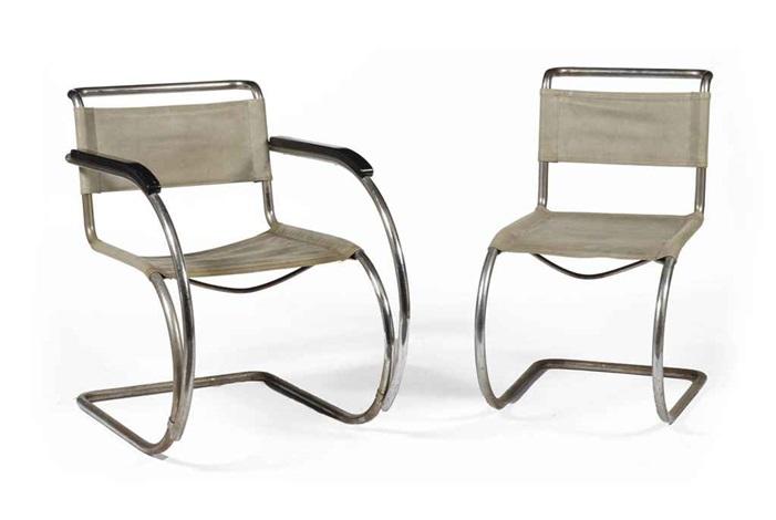 lilly reich furniture. \u0027mr20\u0027 Armchair And \u0027mr10\u0027 Sidechair (2 Works) By Lilly Reich Furniture
