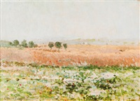 summer landscape by otto heinrich engel