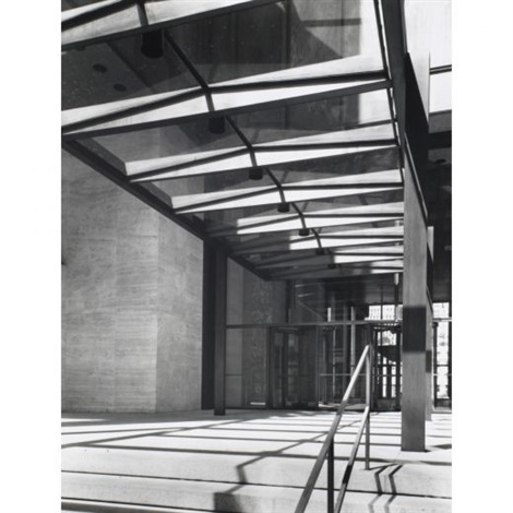 seagram building 53rd street entrance 2 works by ezra stoller