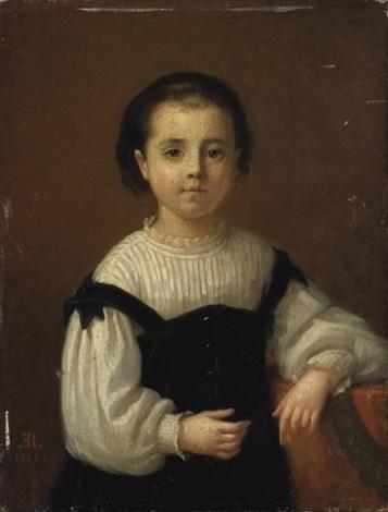 portrait de marie blanche enfant by emma adèle blanche roslin