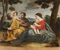 heilige familie mit elisabeth und dem johannesknaben by willem van herp the elder