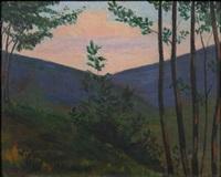 nocturne landscape by luigi russolo