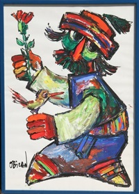 untitled - man with flower by jovan obican
