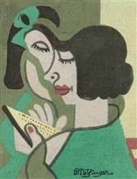 femme lisant by jean metzinger