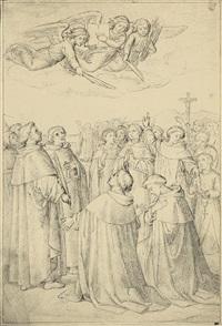 szene aus der geschichte des dominikanerordens by edward jakob von steinle