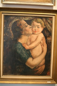 mère et enfant by theodore verschaeren