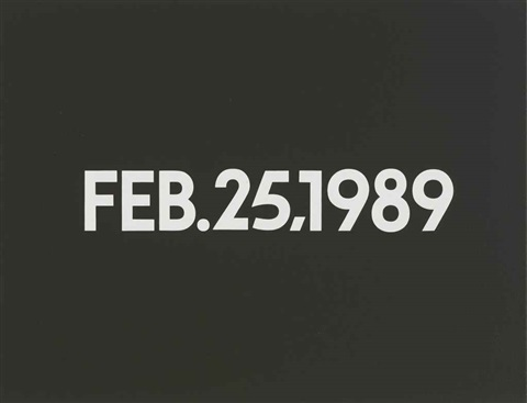 feb 25 1989 by on kawara