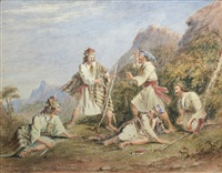 an attack by bandits in greece by henry melling