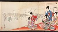 prints of bijin-ga, beautiful women (book of works) by toyohara chikanobu