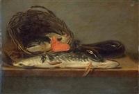 nature morte aux poissons by petrus staverenus
