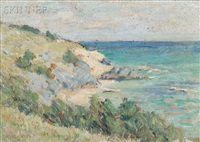 coastal scene with bluffs, probably bermuda by clark greenwood voorhees