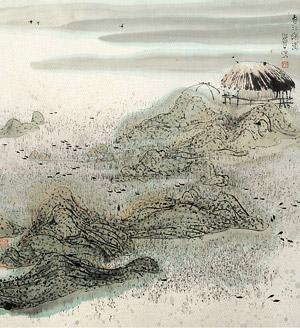 春江绿蒲 by zhu daoping
