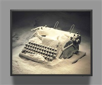 typewriter with flour by rodney graham