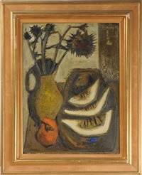 still life with flowers by raymond guerrier