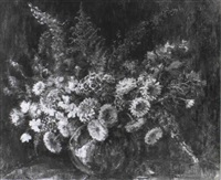 still life of summer flowers by nan c. livingston